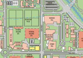 Partial view of the campus master plan
